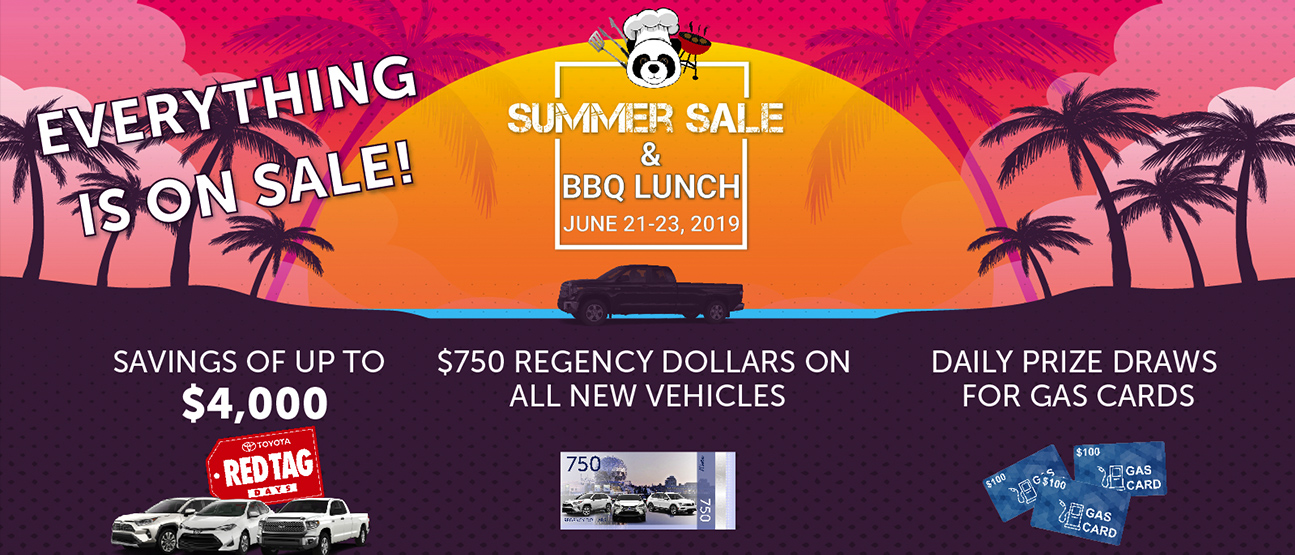 Summer Sale and BBQ Lunch Event at Regency Toyota
