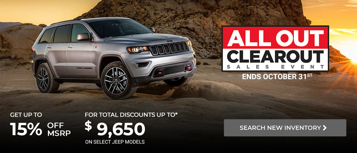 October Jeep offer