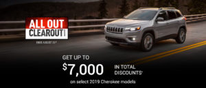 August Jeep offer