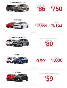 October 2018 Kia Incentive Offer
