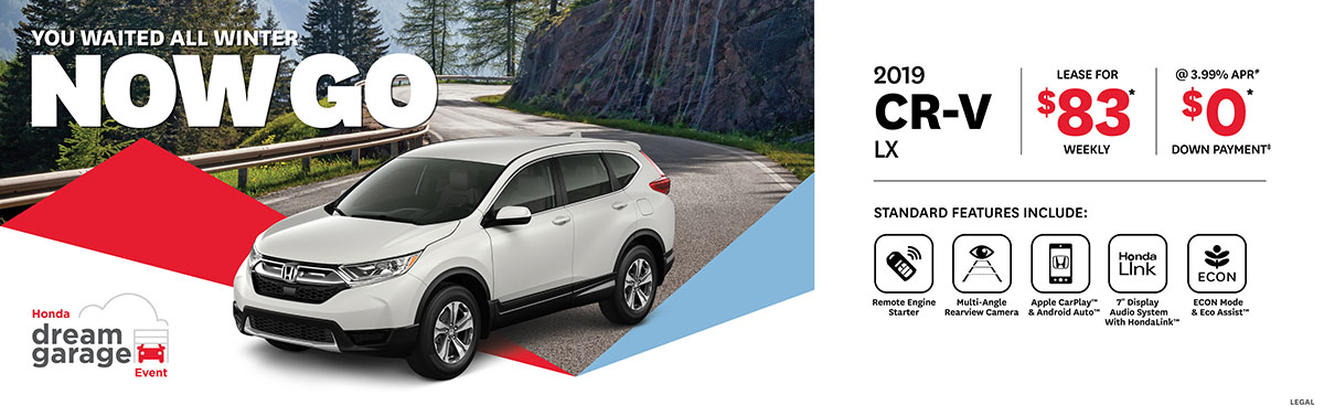 2019 March Honda CR-V OEM Offer