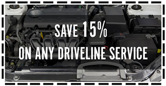 Save 15% on any Driveline Service