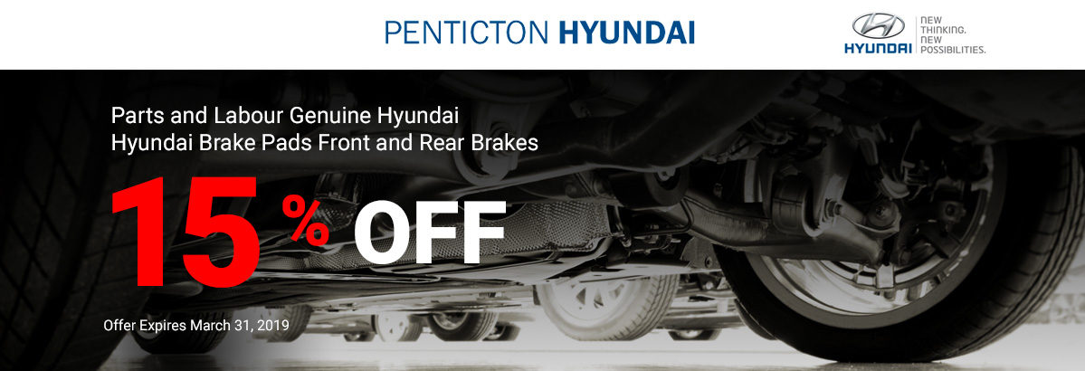 Hyundai Brake Pads Front and Rear Brakes