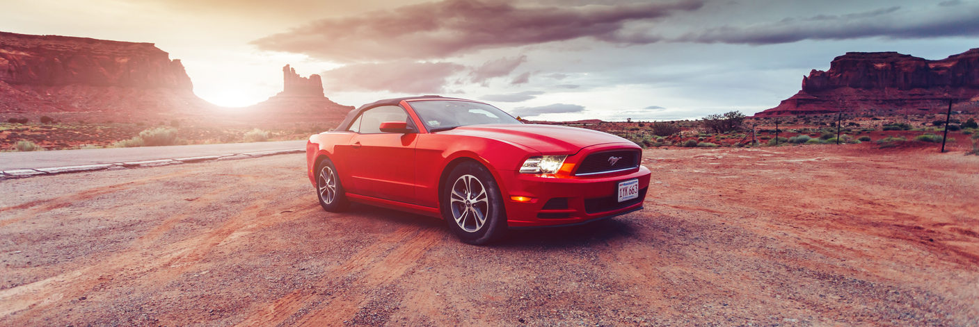 Ford Mustang in the desert