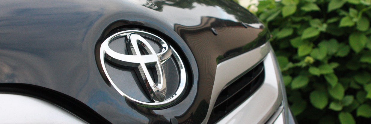 Toyota Car Logo on the hood of a Venza