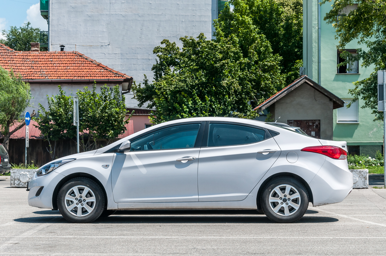 White luxurious Hyundai Elantra