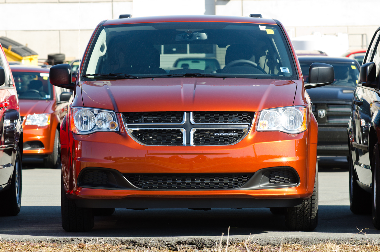 Front of the Dodge Grand Caravan