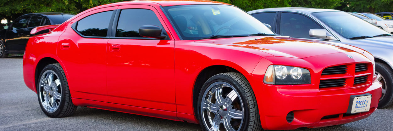 Red Dodge Charger LX