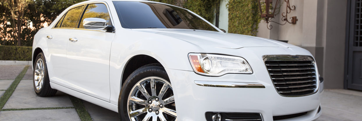 White Chrysler 300 parked