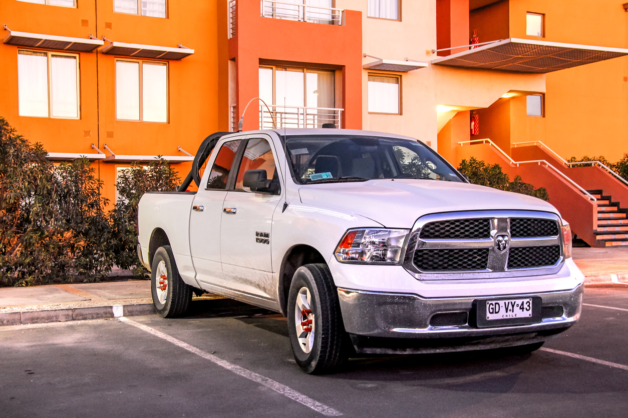 Ram 1500 parked in a parking spot