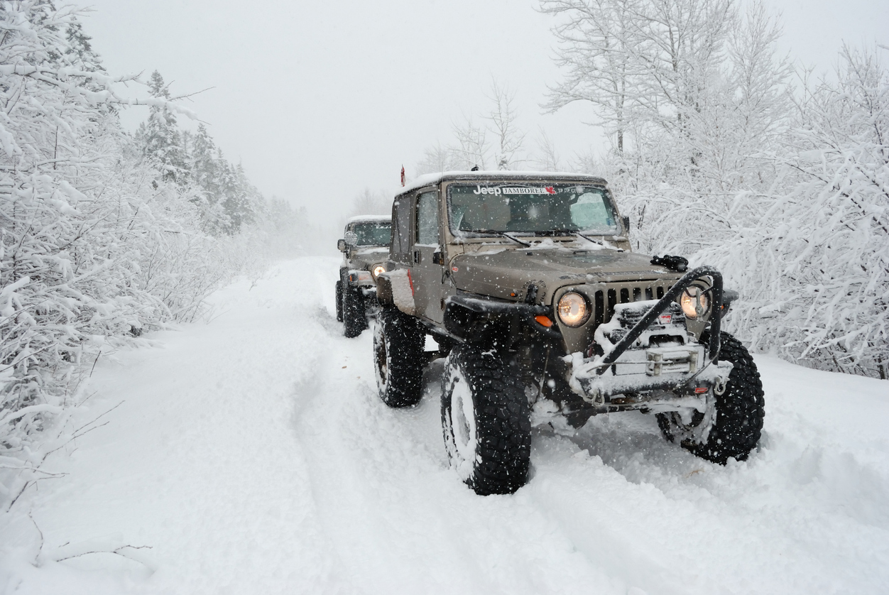 Jeeps Off-Roading in the snow