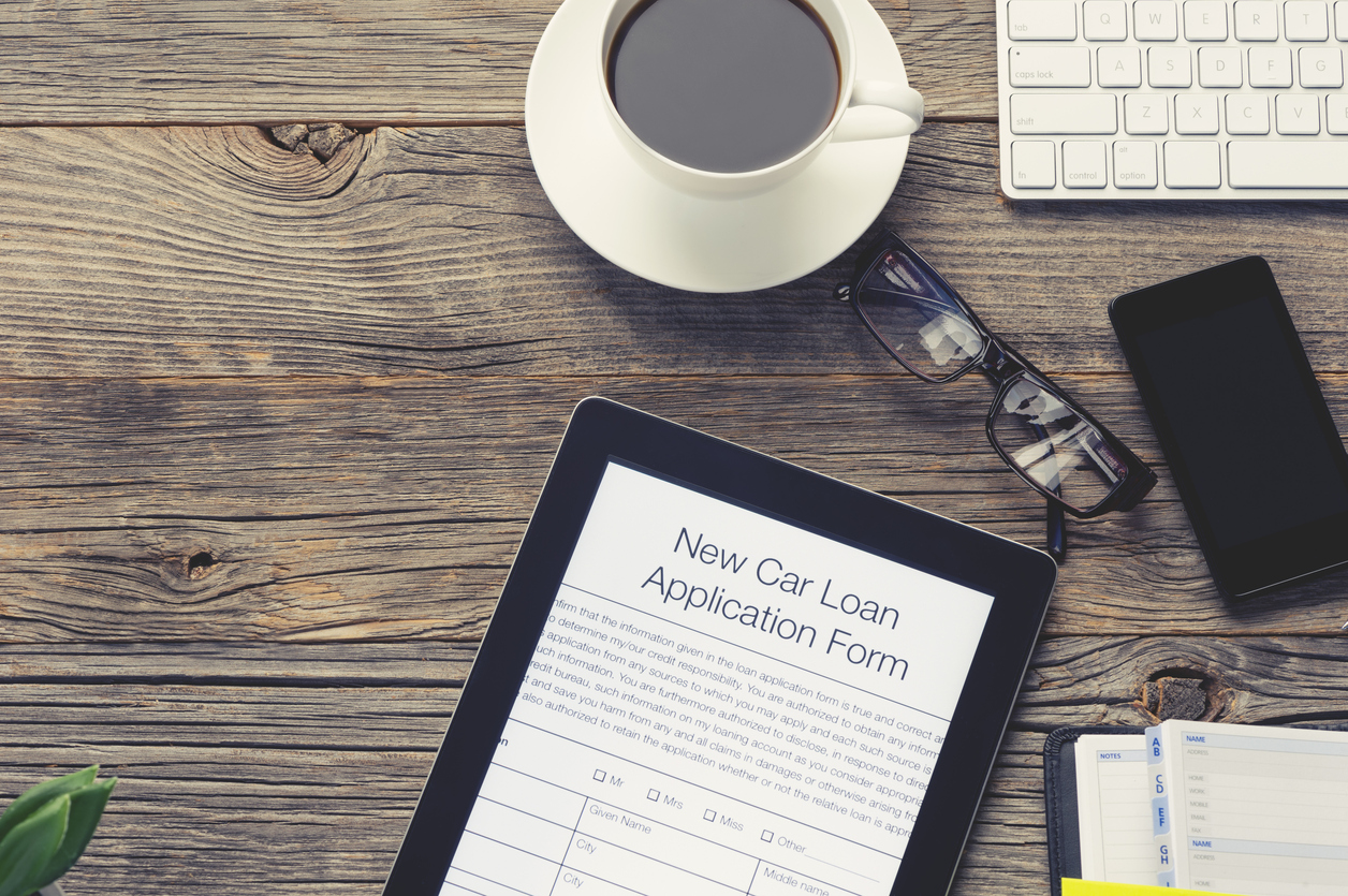 Online car loan application form