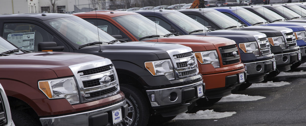 Row of Ford F-150 Vehicles