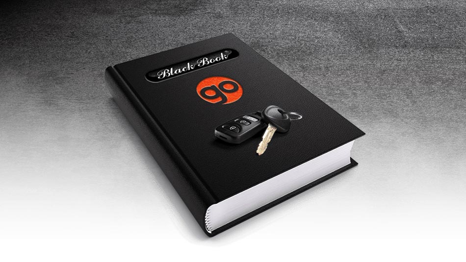 Go Auto Canadian Black Book graphic with car keys on the book