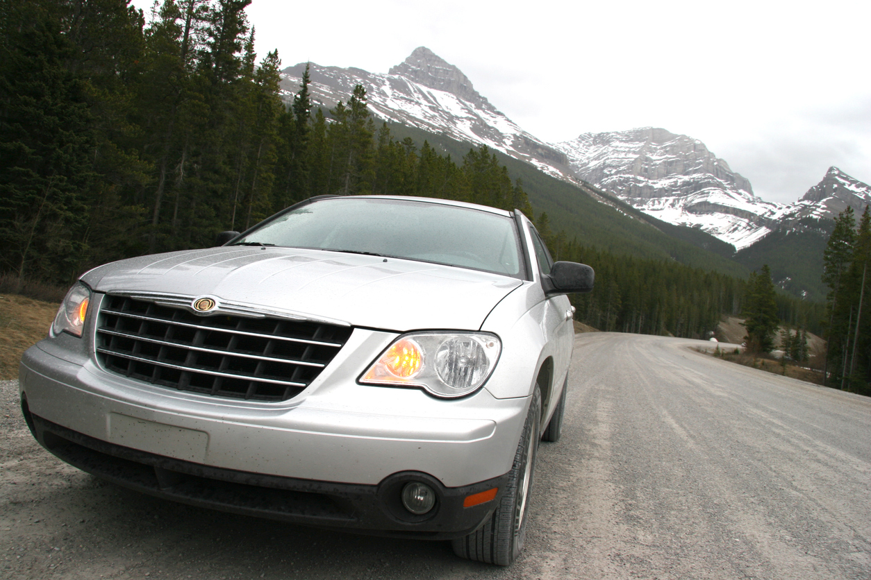 Chrysler Pacifica in the mountains