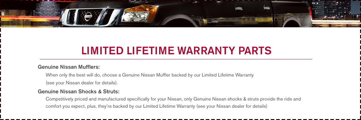 Limited Lifetime Warranty Parts