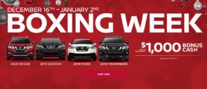 Nissan 2019 Boxing Week offer