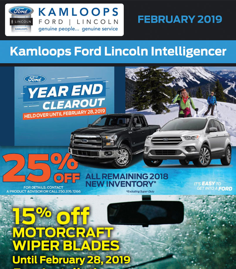 Kamloops Ford February 2019 newsletter