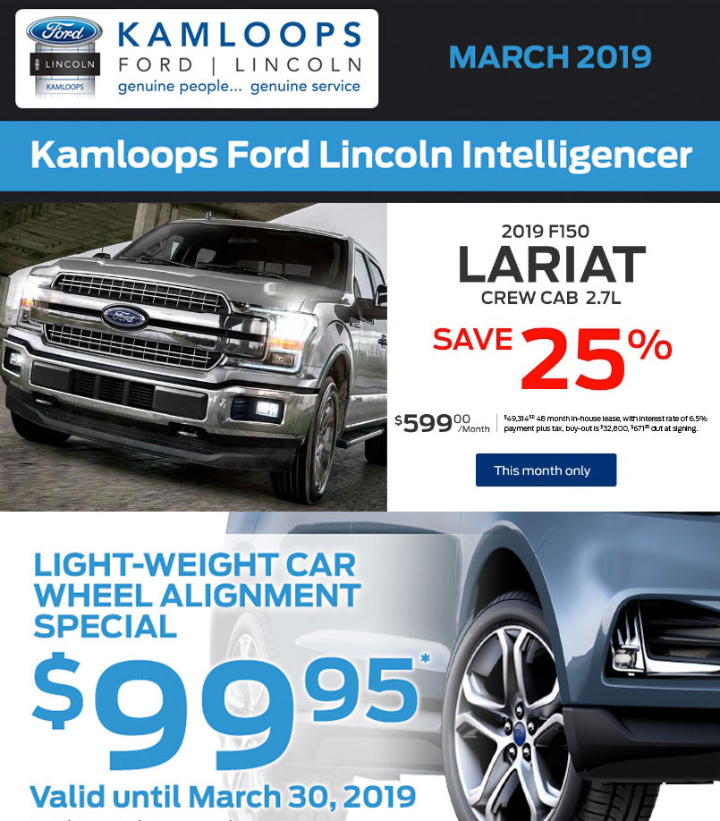 Kamloops Ford March 2019 newsletter