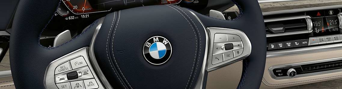 BMW X7 steering wheel