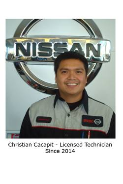 Christian Cacapit - Licensed Technician
