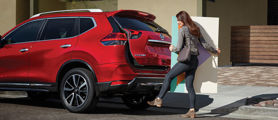Red 2019 Nissan Rogue Hands-Free Power Liftgate