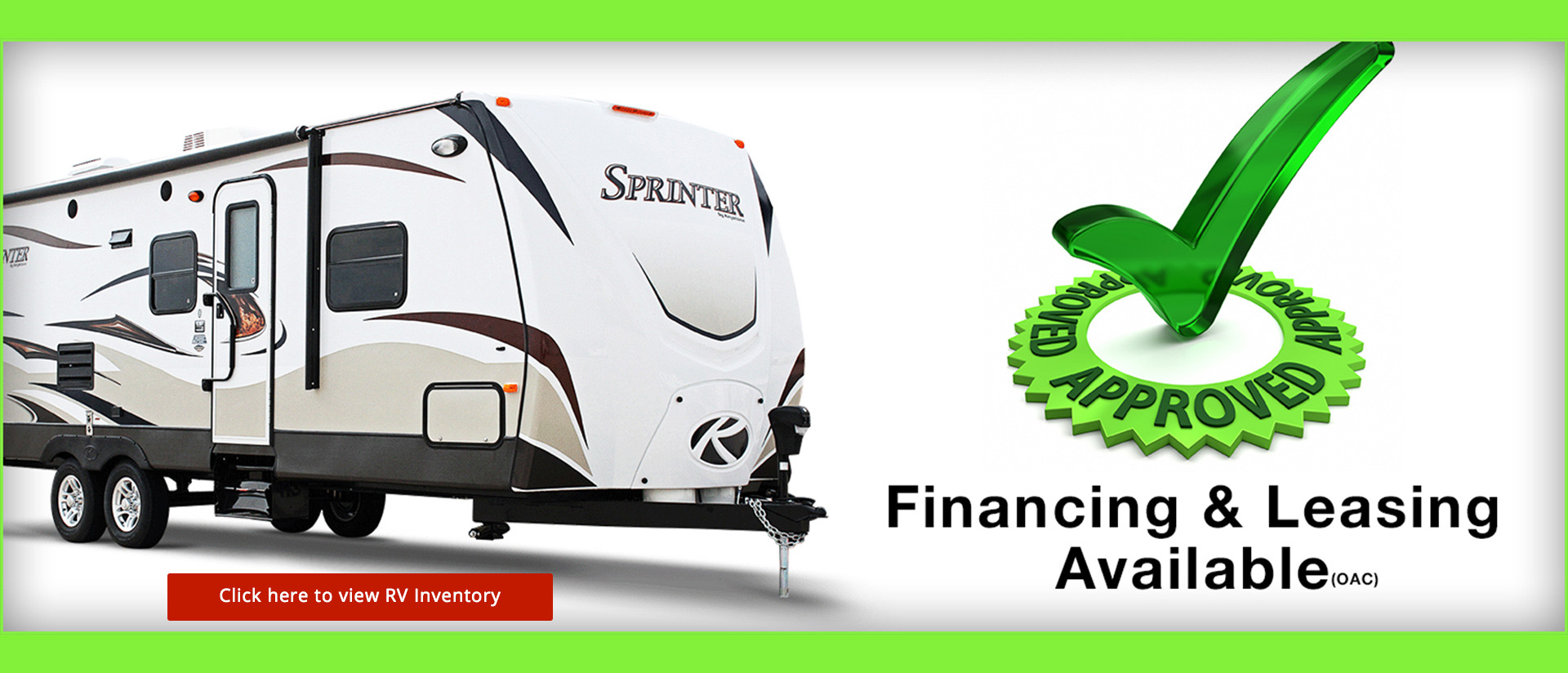 RV Inventory - Financing available