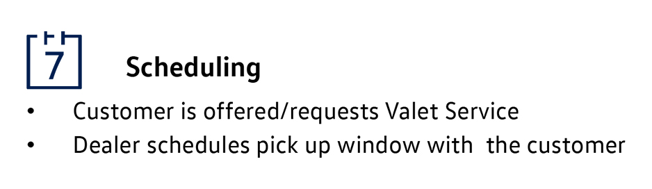 Scheduling Process Vw Valet