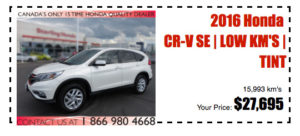 Honda CRV demo vehicle
