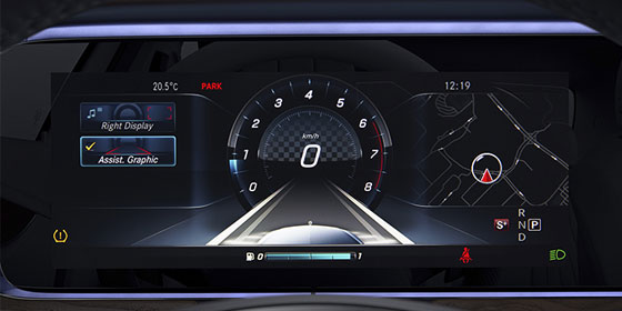 E-class Wagon Driver assist screen