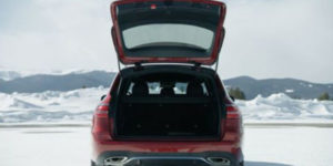 2019 E-class Wagon Rear view with hatchback open