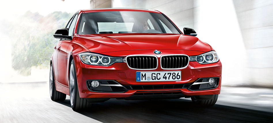 BMW 3 series red