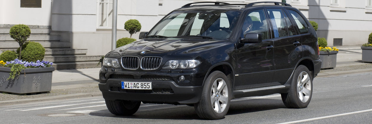 BMW X5 on a road