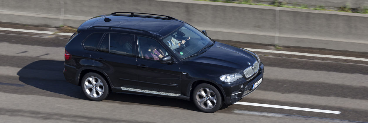BMW X3 on the highway