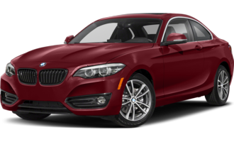 BMW 2 Series in maroon