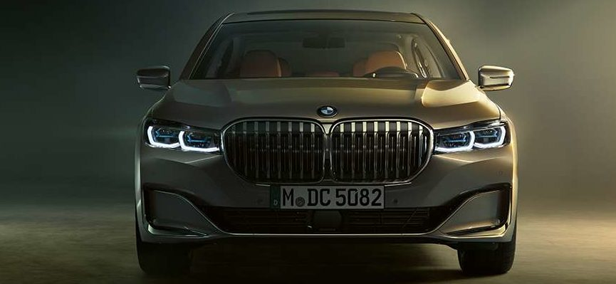 grille of the 2019 bmw 7 series