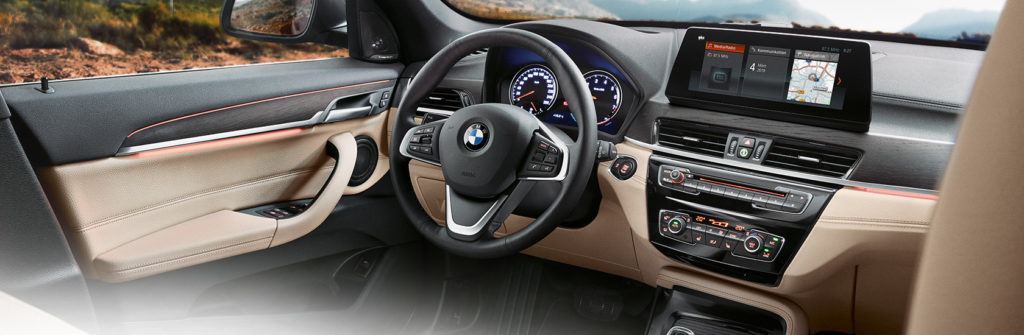 interior of the 2019 bmw x1