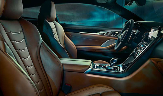 BMW 8 Series coupe interior