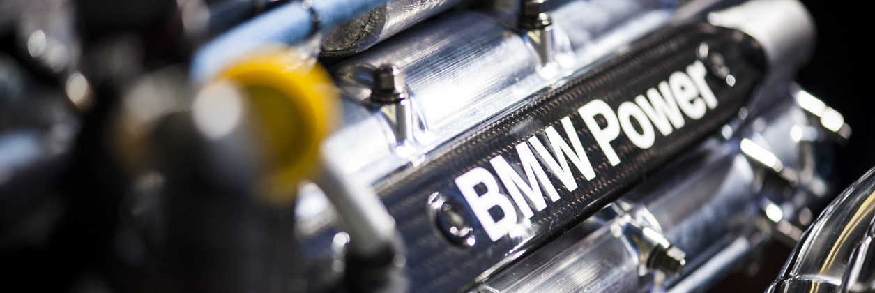 BMW Engine with BMW Power lettering