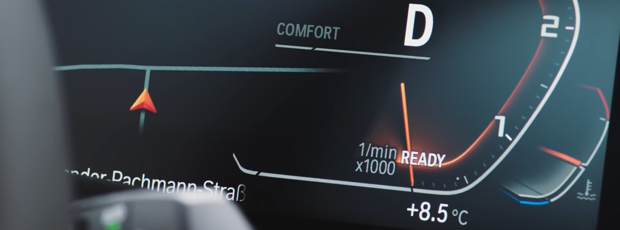 BMW digital dash display