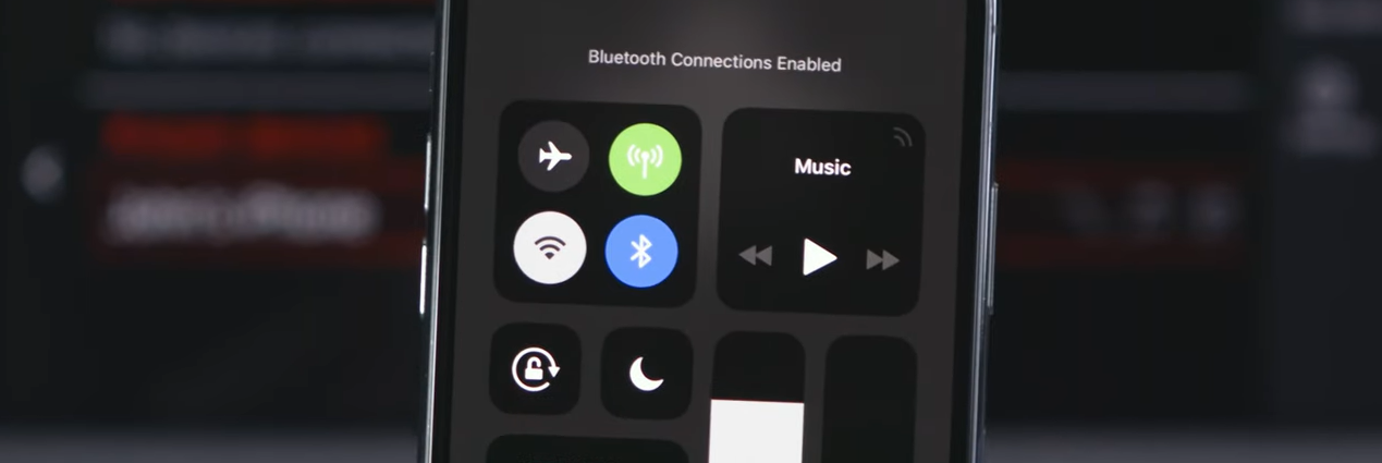 Bluetooth connection screen on an iPhone