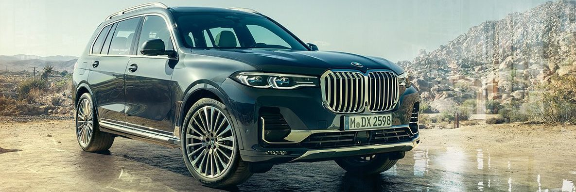 Front right corner profile of the BMW X7