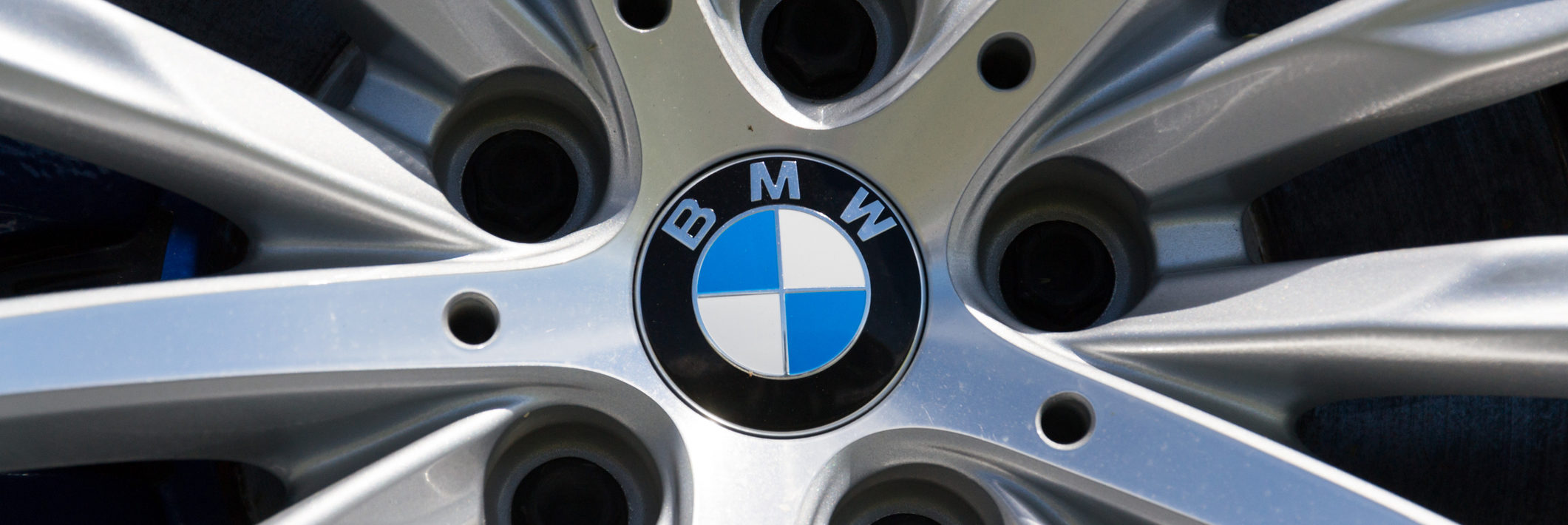 BMW logo on a 530d XDrive Limousine wheel
