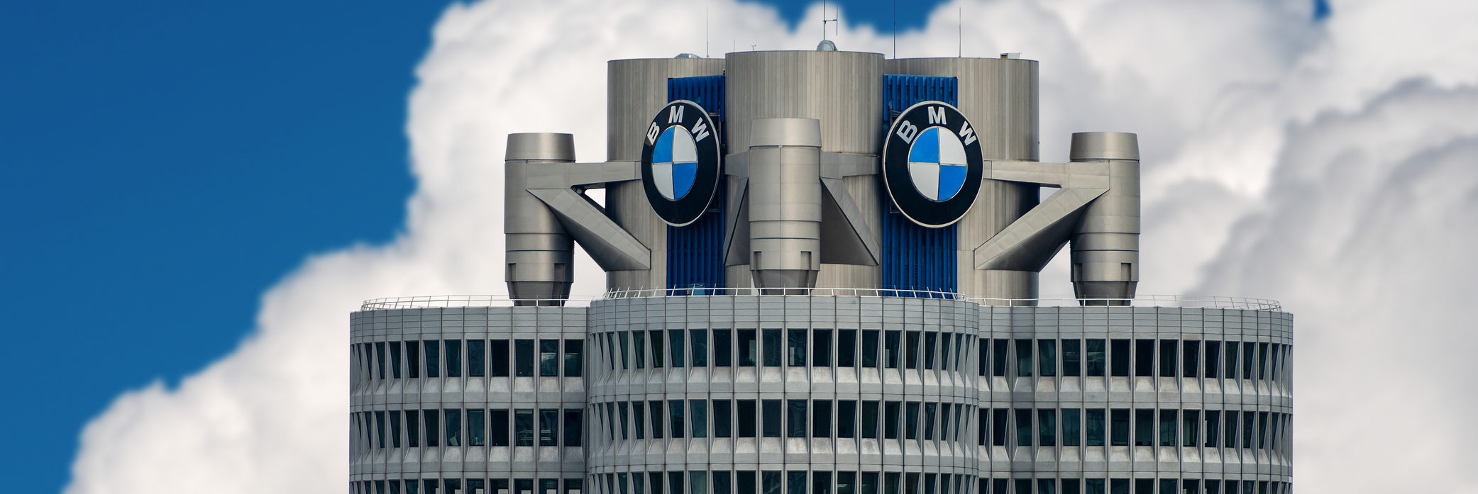 Top of BMW Headquarters In Munich