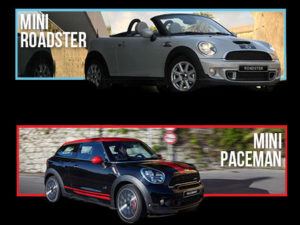 Roadster and Paceman trim levels