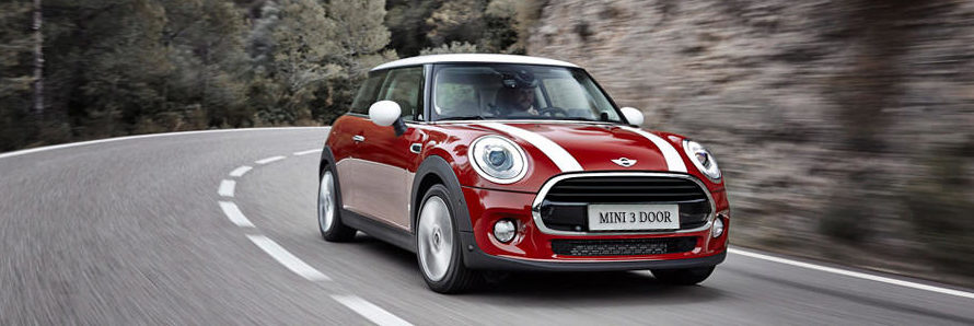 mini cooper driving front