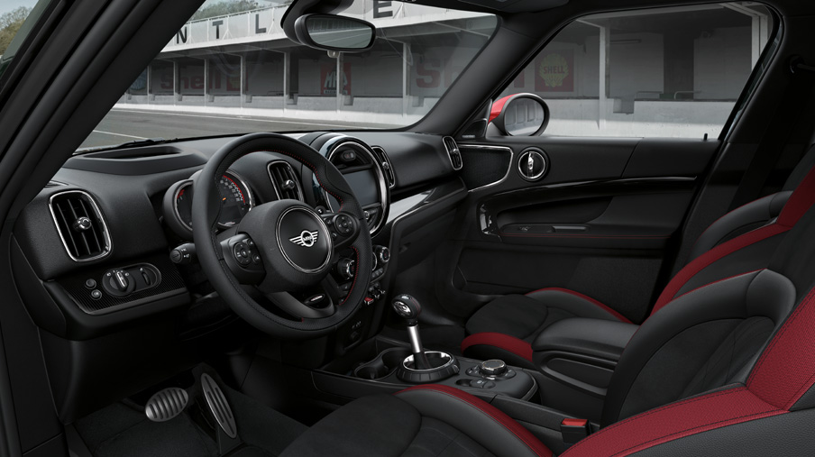 2019 MINI Countryman John Cooper Works interior view from the driver side