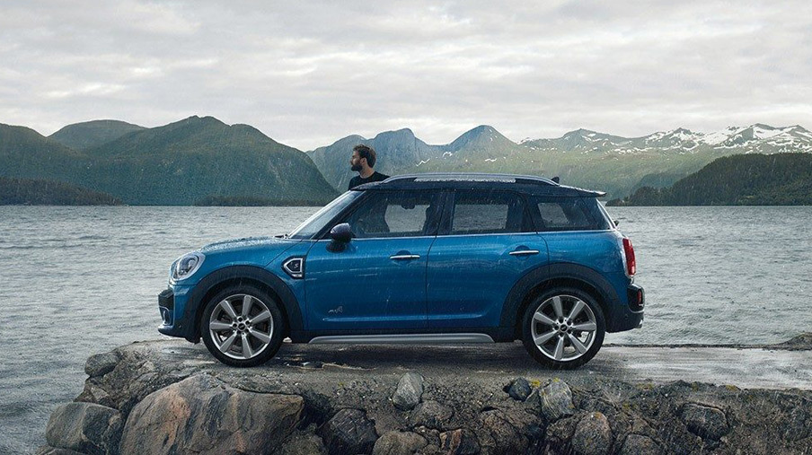 2019 MINI Countryman parked by a lakeside