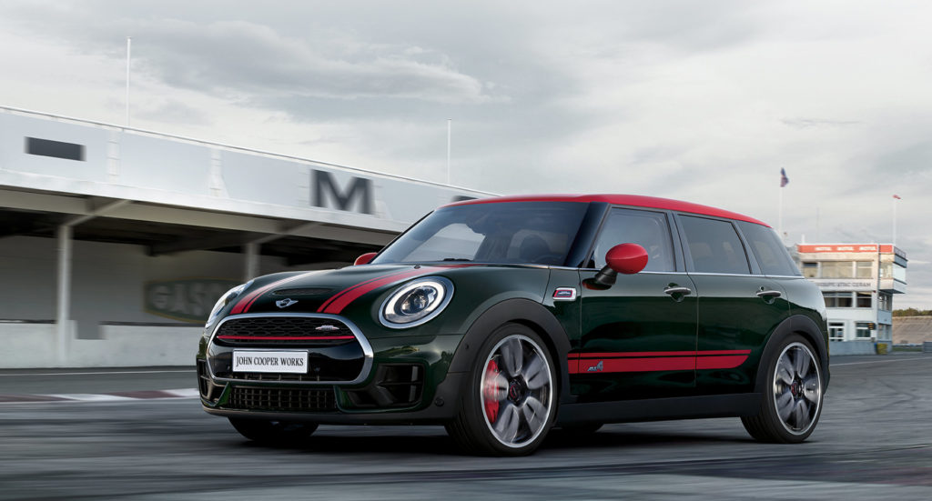 JCW MINI with ALL4 driving on a track