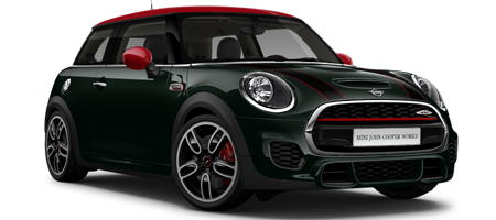 Black and red JOHN COOPER WORKS 3 door Model